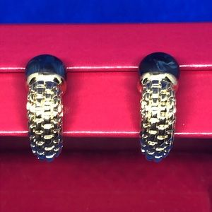 House of IVANA Jewelry - 🔱💙🔱Blue & Gold clip on earrings